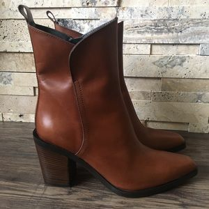 Pons Quintana Brown Heeled Leather Designer Boots